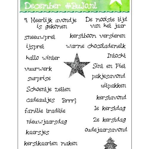 Stempelset December BuJo.nl