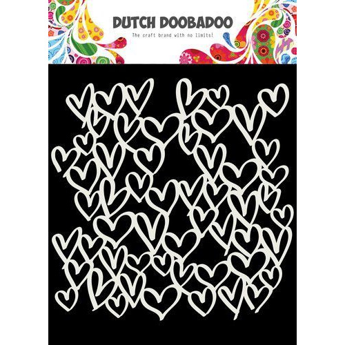Dutch Doobadoo Mask Art 15X15cm hartjes 470.715.623 (06-20)