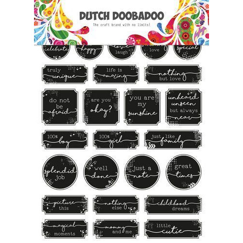 Dutch Doobadoo Dutch Sticker Art A5 Grunge tickets 491.200.005 (06-20)