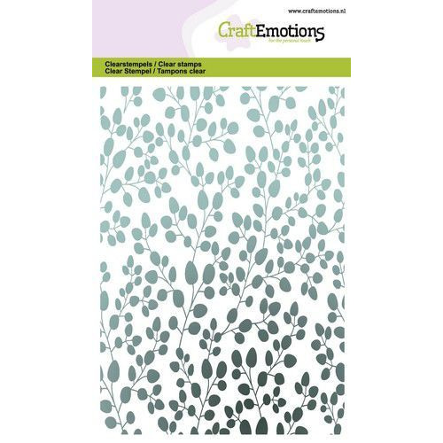 CraftEmotions clearstamps A6 - eucalyptus achtergrond GB (06-20)
