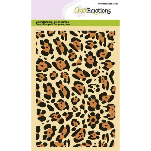 CraftEmotions clearstamps A6 - panter print GB (06-20)