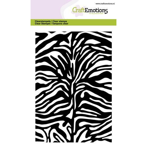 CraftEmotions clearstamps A6 - tijger-zebra print GB (06-20)
