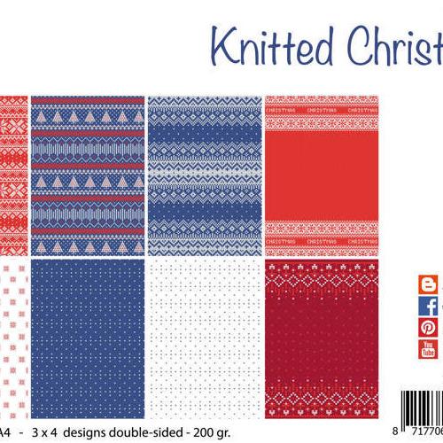 Papierset - Design - Gebreide kerst
