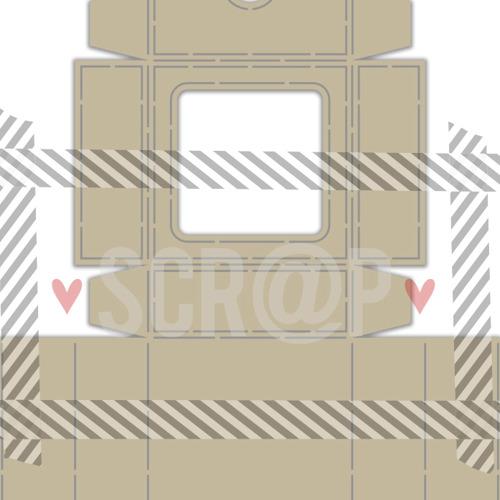 Polybesa stencil - Noor - Scrap box met klapdeksel