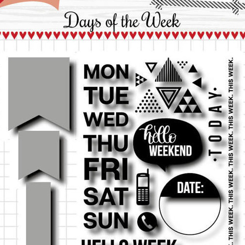 Scrap Stansmal & Stempels - Noor - Days of the week