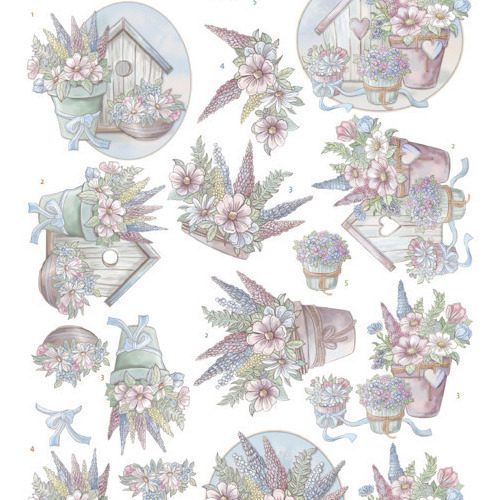 3D Cutting Sheet -Yvonne Creations -Flowers in pastel