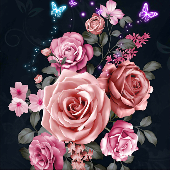 Diamond Painting rozen