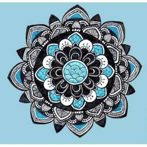Diamond Painting mandala blauw