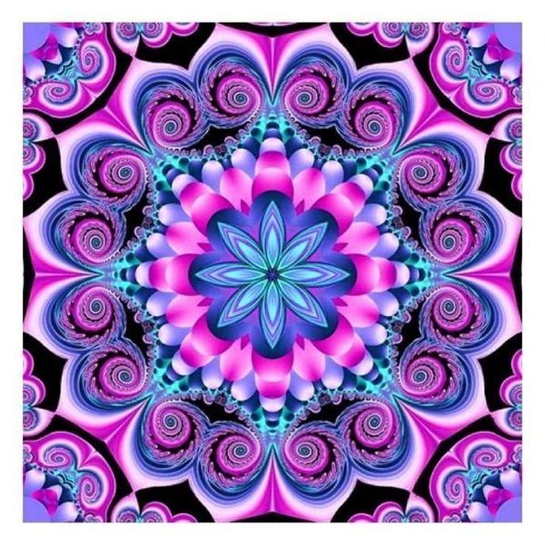 Diamond Painting mandala lila