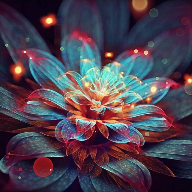 Diamond Painting lotus bloem