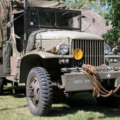 01-leger1 Diamond Painting ronde steentjes militair voertuig