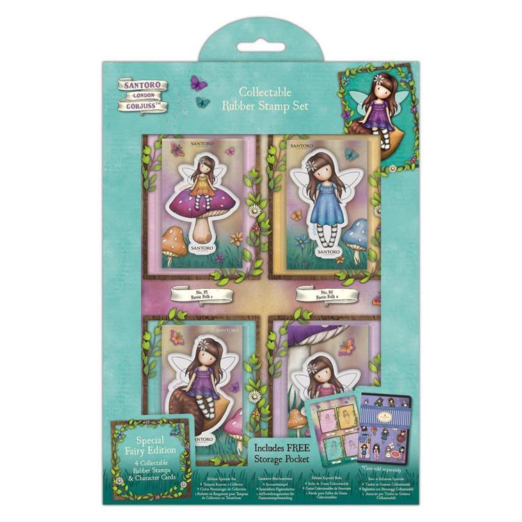 Collectable Stamp Set - Fairy - Santoro - Faerie Folk