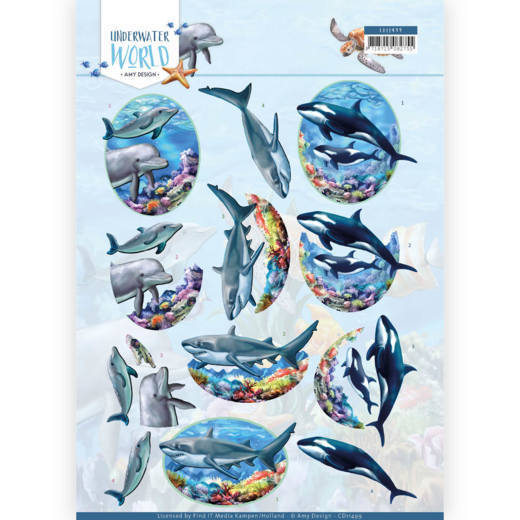 3D Cutting Sheet - Amy Design - Underwater World - Big Ocean Animals