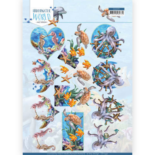 3D Cutting Sheet - Amy Design - Underwater World - Sea Animals
