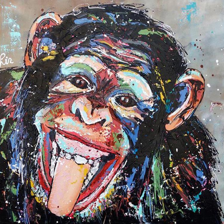 01-51588 Diamond Painting ronde steentjes aap