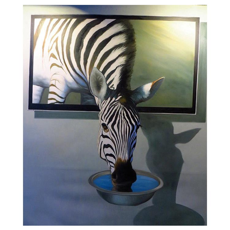 01-51403 Diamond Painting ronde steentjes zebra