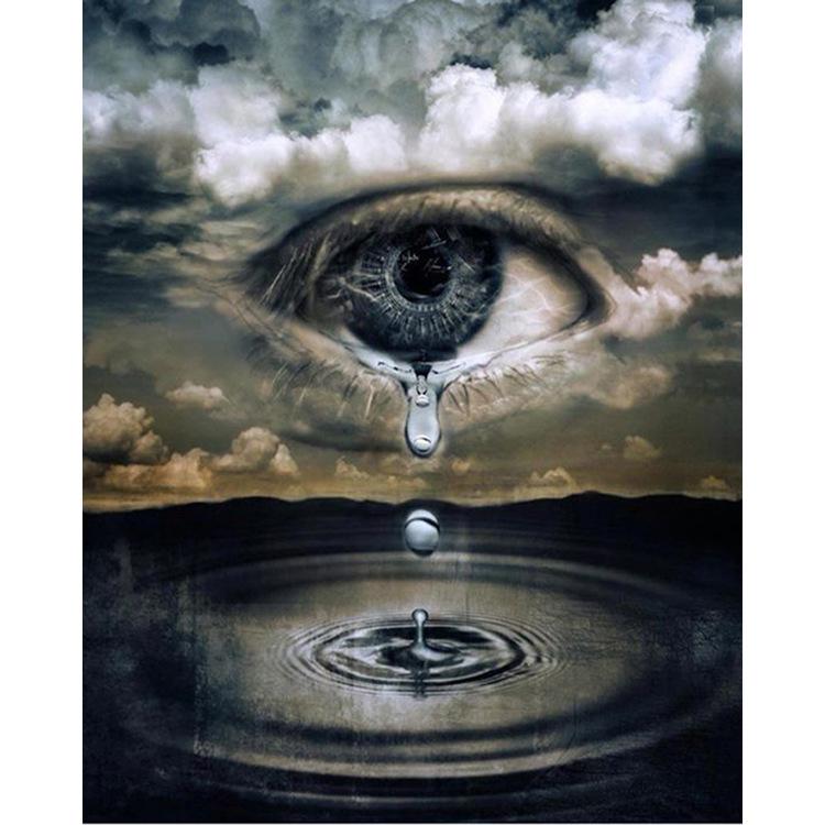 01-50781 Diamond Painting ronde steentjes fantasie oog