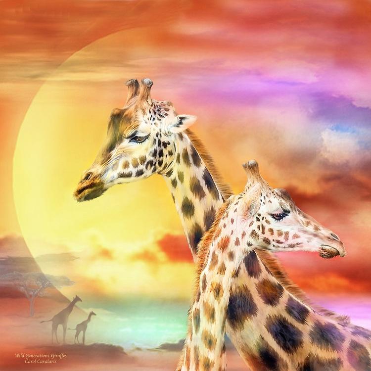 01-50273 Diamond Painting ronde steentjes giraffen