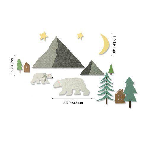 Sizzix Thinlits Die Set - Arctic Bear 16PK 664445 Emily Tootle (07-20)