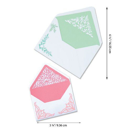 Sizzix Thinlits Die Set - Botanical Envelope Liners 6PK 664446 Jen Long (07-20)