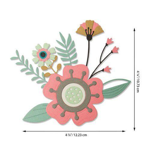 Sizzix Thinlits Die Set - Creative Florals 15PK 664450 Olivia Rose (07-20)