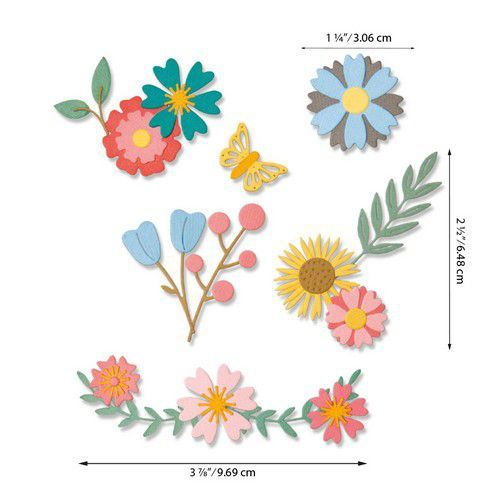 Sizzix Thinlits Die Set - Petite Petals 20PK 664455 Emily Tootle (07-20)