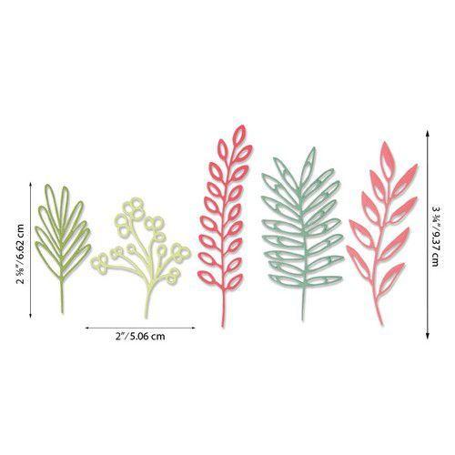 Sizzix Thinlits Die Set - Delicate Leaves 5PK 664457 Sharon Drury (07-20)