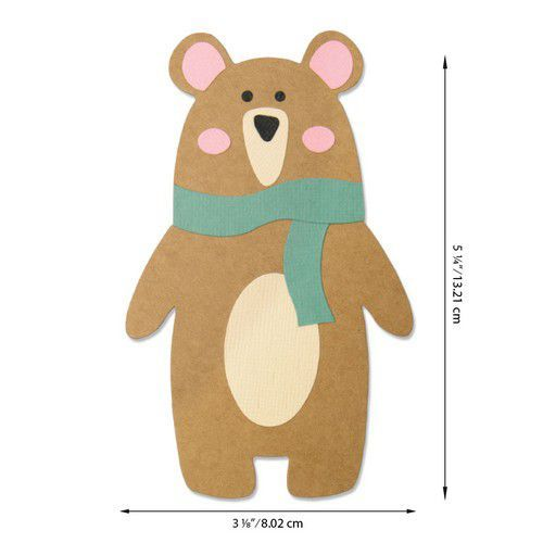 Sizzix Bigz Die - Scandi Bear 664463 Laura Kate (07-20)