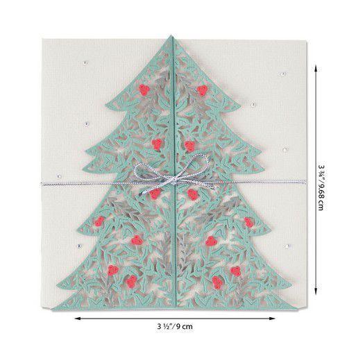 Sizzix Thinlits Die Set - Christmas Tree Card 2PK 664467 Lisa Jones (07-20)