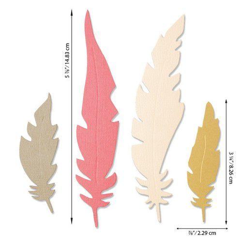 Sizzix Bigz Die - Natural Feathers 664474 Jenna Rushforth (07-20)