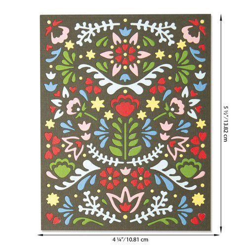 Sizzix Thinlits Die - Folk Mask 664478 Lisa Jones (07-20)
