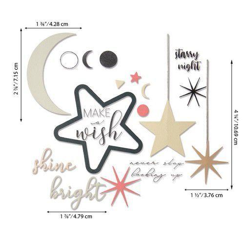 Sizzix Framelits Die Set w/Stamps - Make a Wish  9PK 664480 Sophie Guilar (07-20)
