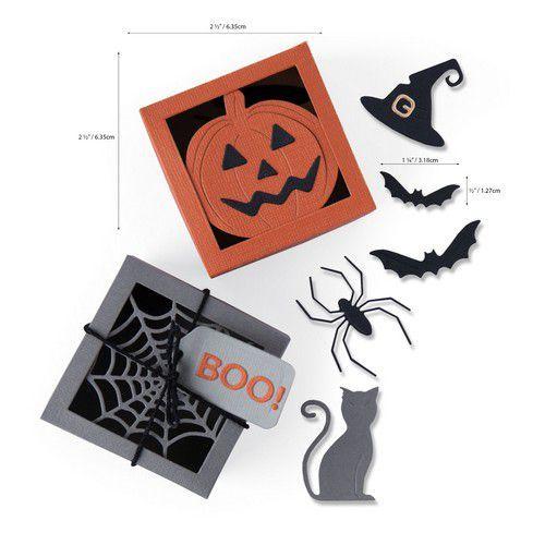 Sizzix Thinlits Die Set - Box Spooky Silhouette 12PK 664577 Georgie Evans (07-20)