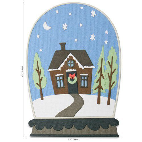 Sizzix Thinlits Die Set - Bell Jar Diorama 17PK 664579 Jen Long (07-20)