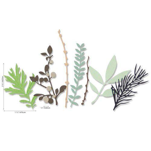 Sizzix Thinlits Die Set - Hidden Leaves 9PK 664581 Sophie Guilar (07-20)