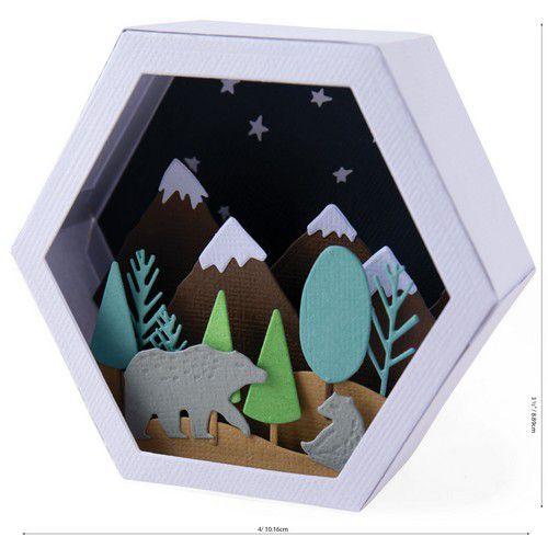 Sizzix Thinlits Die Set - Box Winter Scene 28PK 664582 Jessica Scott (07-20)