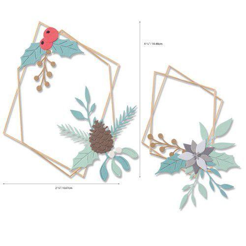 Sizzix Thinlits Die Set - Geometric Winter Frame 18PK 664583 Olivia Rose (07-20)