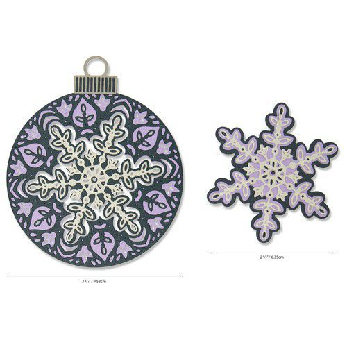 Sizzix Thinlits Die Set - Layered Snowflake 6PK 664584 Jessica Scott (07-20)