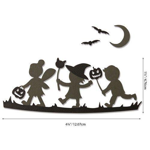 Sizzix Thinlits Die Set - Halloween Silhouettes 6PK 664588 Lisa Jones (07-20)