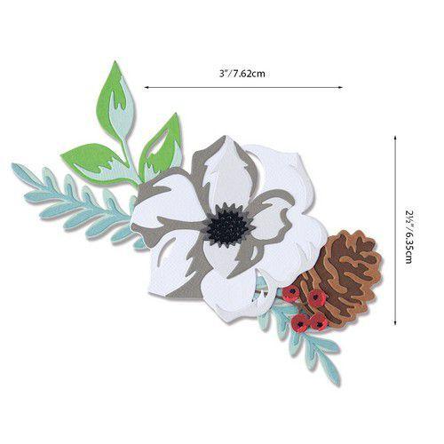 Sizzix Thinlits Die Set - Layered Winter Flower 13PK 664589 Lisa Jones (07-20)