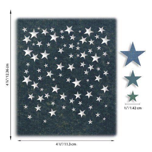Sizzix Thinlits Die Set - Falling Stars 4PK 664732 Tim Holtz (07-20)