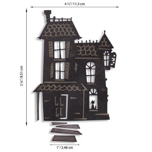 Sizzix Thinlits Die Set - Haunted 3PK 664735 Tim Holtz (07-20)