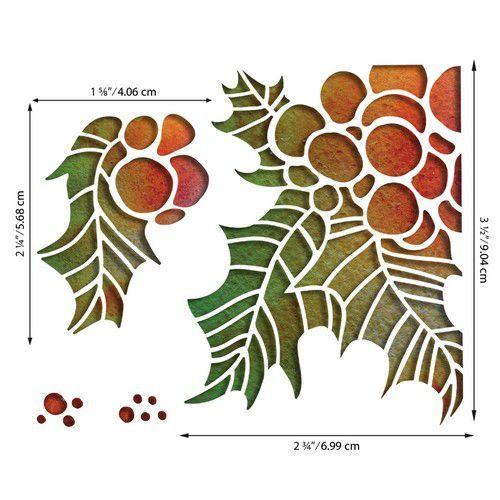 Sizzix Thinlits Die Set - Holly Pieces 4PK 664738 Tim Holtz (07-20)