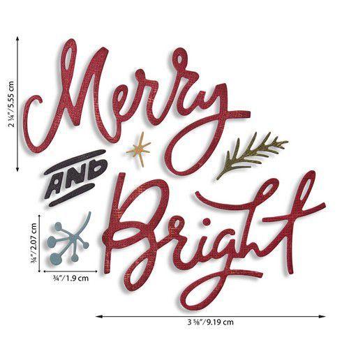 Sizzix Thinlits Die Set - Merry & Bright 6PK 664739 Tim Holtz (07-20)