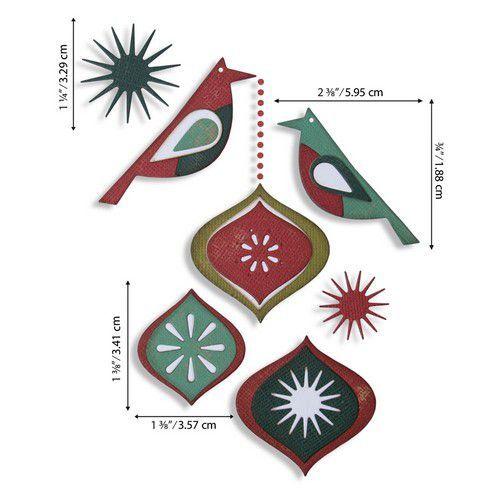 Sizzix Thinlits Die Set - Ornamental Birds 10PK 664740 Tim Holtz (07-20)