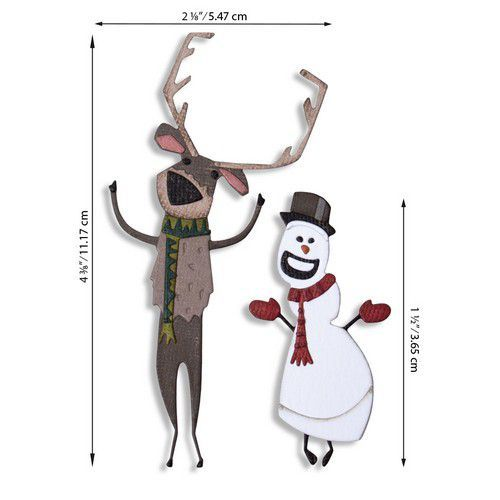 Sizzix Thinlits Die Set - Papercut Christmas #2 Colorize 15PK 664753 Tim Holtz (07-20)