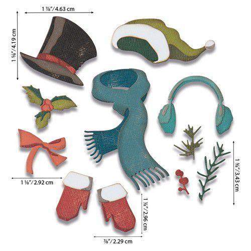 Sizzix Thinlits Die Set - Winter Wardrobe 11PK 664754 Tim Holtz (07-20)
