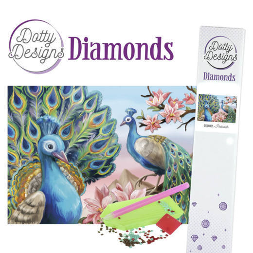 Dotty Designs Diamonds - Peacock