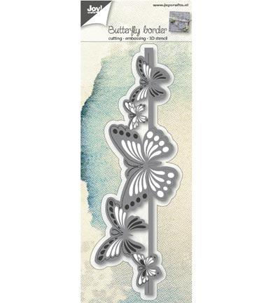 Joy! crafts --Snij-embos-debosstencil   Vlinder rand 2