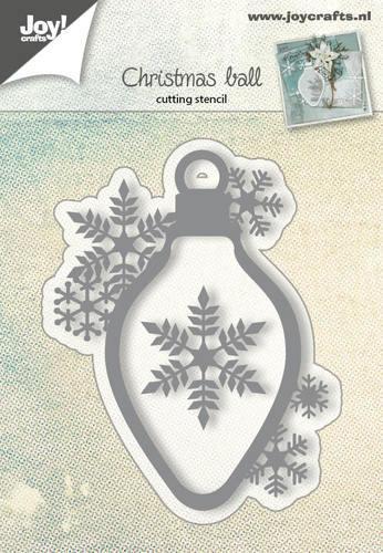 Joy! crafts --Snij-embos-debosstencil   Kerstbal met sneeuwvlok